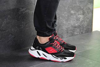 Мужские кроссовки черно-красные Adidas balance life 7838, фото 2