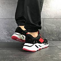 Мужские кроссовки черно-красные Adidas balance life 7838, фото 3