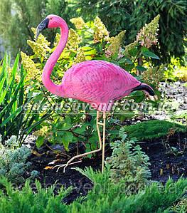 Садовая фигура Фламинго керамический на металлических лапах