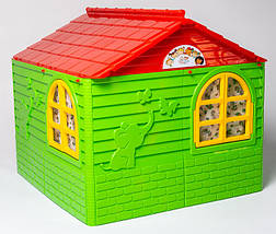 Детский пластиковый домик (Зелено-красный) 02550/3, фото 3