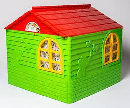 Детский пластиковый домик (Зелено-красный) 02550/3, фото 2
