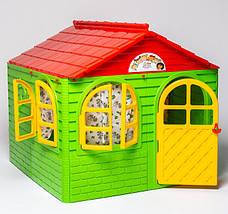 Детский пластиковый домик (Зелено-красный) Долони - 02550/3, фото 2