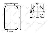 Пневмоподушка 887M без стакана DAF 0513983, 1T15LNR3