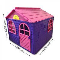 Детский пластиковый домик (Фиолетово-розовый) Долони - 02550/1