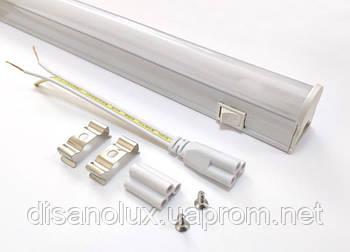 Светодиодный светильник T5, 60см, 9W,4000К с выкл IP20