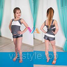 Топ и шорты VIA Stream детская одежда для танцев, pole dance и акробатики