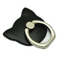 """Держатель кольцо для телефона (попсокет / popsocket / подставка) """"кошка"""" черный, фото 1"""