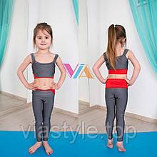 Топ и лосины VIA Sporty детская одежда для танцев, pole dance и акробатики