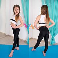 Топ и лосины VIA Mirrow детская одежда для танцев, pole dance и акробатики