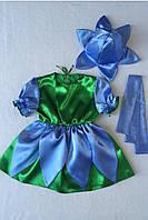 Детский карнавальный костюм BonitaПролесок (девочка) 105 - 120 см Голубой, фото 1
