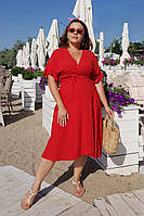 Платье большого размера / штапель / Украина 36-04077-18, фото 1