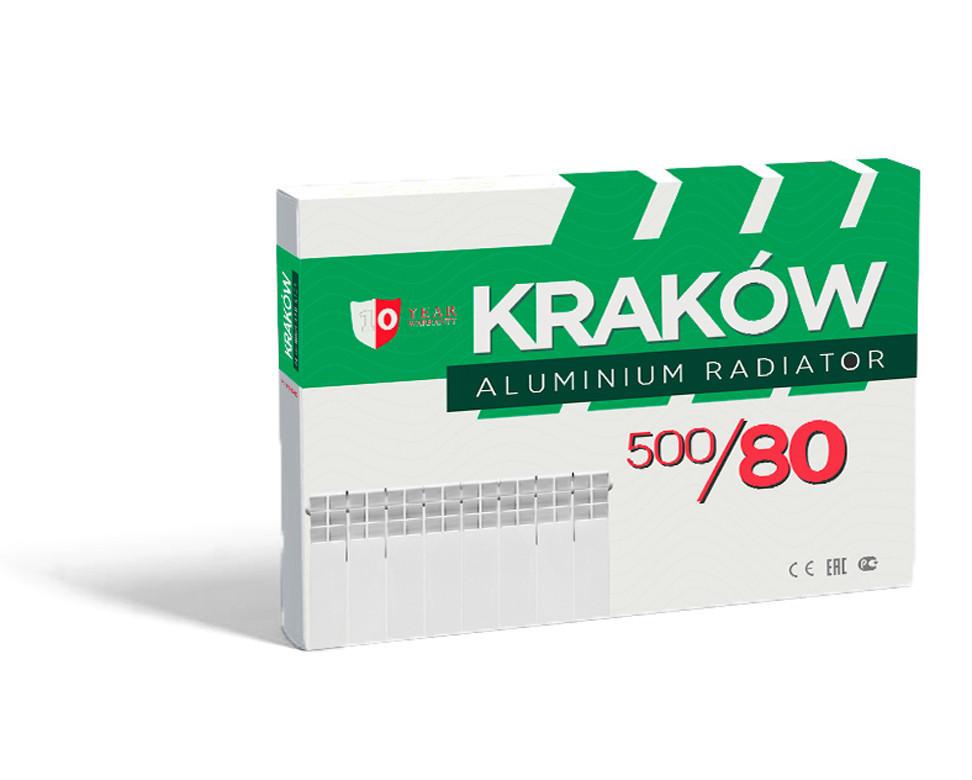 Радиатор KRAKOW 500x80 (500/76) Алюминиевый