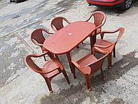 Новинка! Комплект садовой мебели! Стол большой + 6 кресел!, фото 1