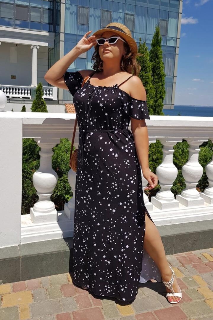Платье большого размера / трикотаж / Украина 36-04099, фото 1