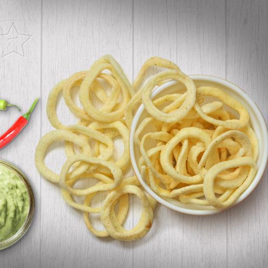 Снеки жареные соленые со  вкусом  мексиканского соуса 1.4кг(весовые)