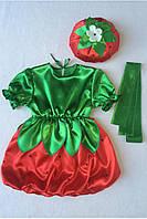 Детский карнавальный костюм Bonita Клубника №2 (девочка) 95 - 110 см Красный