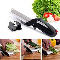 Універсальні Кухонні Ножиці Clever Cutter Ніж - Ножиці 2 в 1, фото 1