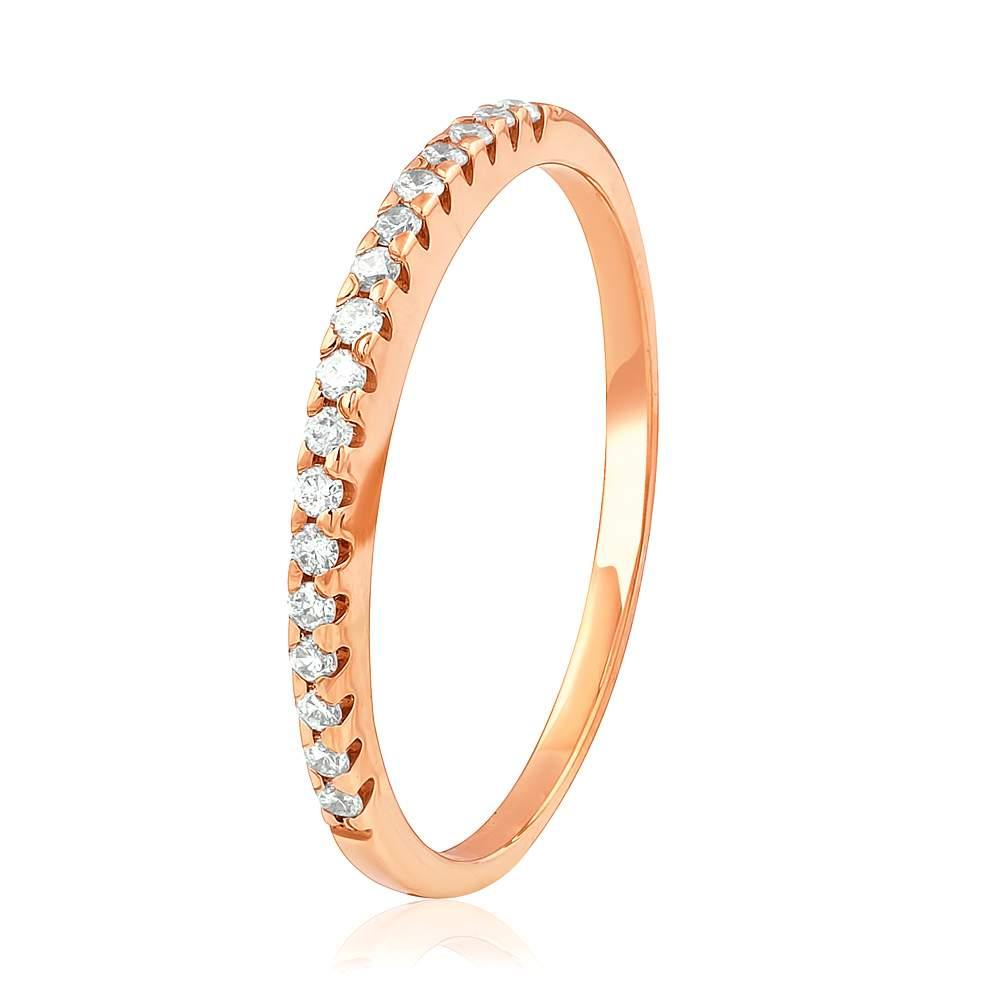 """Золотое кольцо дорожка с бриллиантами """"Бриллиантовый венец"""", КД7455 Эдем"""