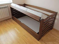 Кровать детская деревянная с подъёмным механизмом Микки Маус