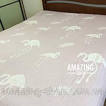 Летнее покрывало, плед, простыня COLORFUL HOME (Фламинго) Размер - 220*240 см.