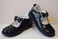 Школьные ортопедические кожаные туфли Tutubi для девочки, каблук Томаса, черный, 31, 32, 33, 34, 35, 36 р.