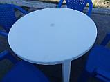 """Комплект пластиковой мебели """"Волна""""! Белый стол + 4 синих кресла!, фото 5"""