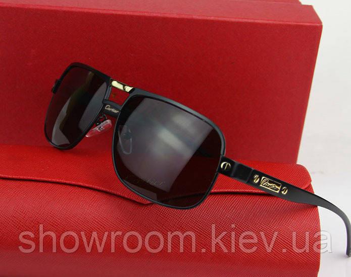 Солнцезащитные очки в стиле Cartier (0689) black