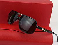 Солнцезащитные очки в стиле Cartier (0689) black, фото 1