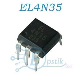 EL4N35, оптопара с транзисторным выходом, DIP6