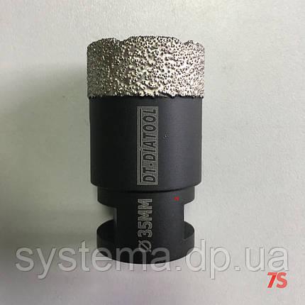 Алмазная коронка для сухого сверления, д. 38,0х60,0 мм, М14 мм, фото 2