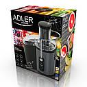 Соковыжималка Adler AD 4125  1000 Вт система Anti-drip, контейнер 2,5 л, фото 7