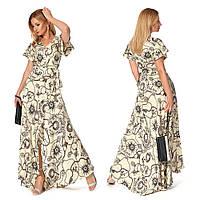 Шёлковое летнее женское платье (р.42-44) Шёлк Армани