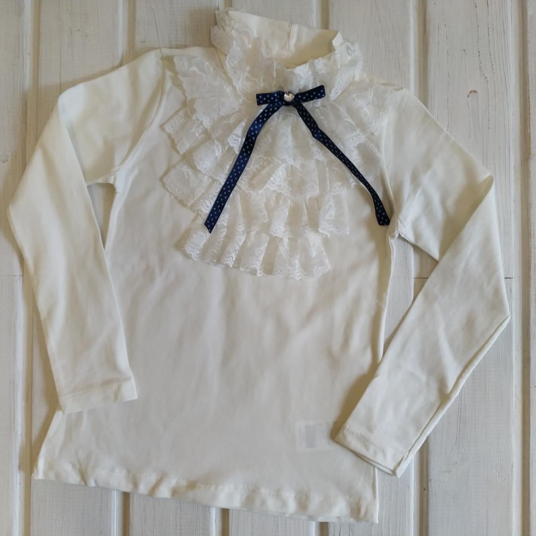 ✅Блузка школьная для девочки Блузка нарядная молочная Размер 152