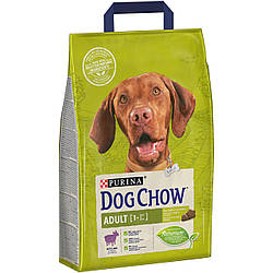 Корм Dog Chow Adult Lamb Дог Чау Едалт для дорослих собак з ягням 2,5 кг