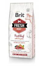 Brit Fresh Beef with Pumpkin Puppy Large Bones & Joints для щенков и юниоров крупных пород (говядина) 12кг
