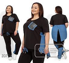 Модный женский спортивный костюм для лета с 56 по 62 размер, фото 2