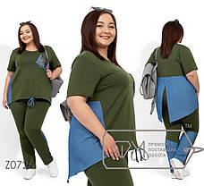 Модный женский спортивный костюм для лета с 56 по 62 размер, фото 3