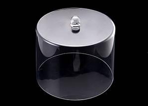 Крышка-колпак для торта акрил 31.5х31.5х24.5 см прозрачная, пластиковая