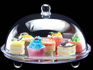 Подставка для торта с крышкой акрил 34.5х34.5х21 см