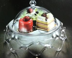 Подставка для торта с крышкой акрил 39.5х39.5х24.5 см