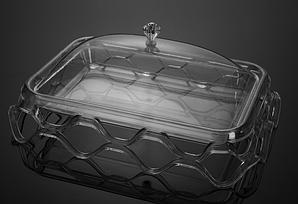 Подставка для торта с крышкой акрил 44х32х18.5 см