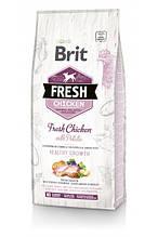 Brit Fresh Chicken with Potato Puppy Healthy Growth сухой корм для щенков и юниоров всех пород (курица) 12 кг