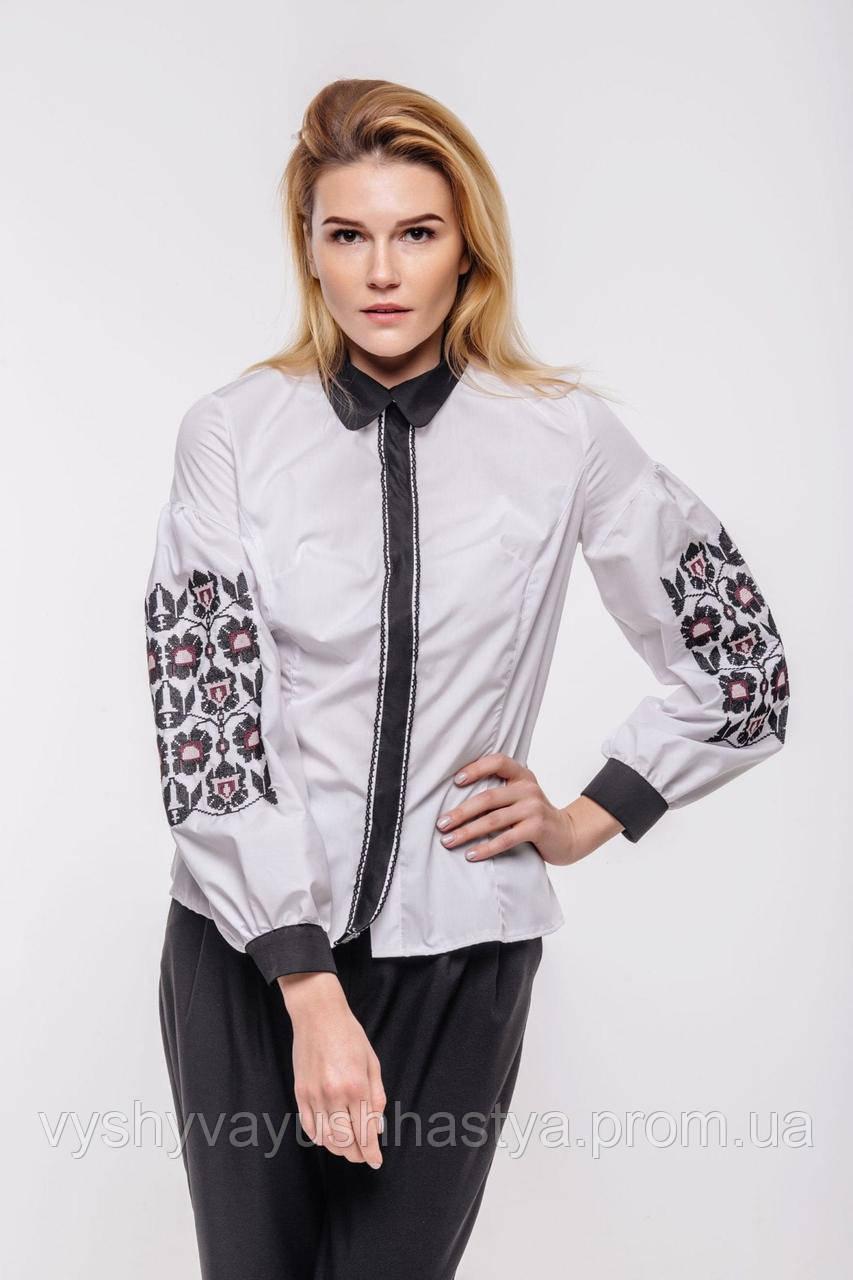 """Изысканная классическая женская блуза """"Графиня"""" декорирована вышивкой. Етностиль."""