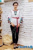 """Оригинальная традиционная женская вышиванка в етонстиле """"Лелітка"""" с пояском., фото 1"""
