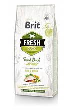Brit Fresh Duck with Millet Adult Run & Work сухой корм для взрослых активных собак всех пород (утка) 12 кг