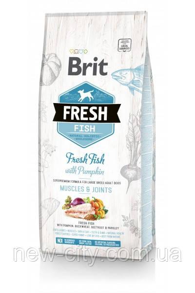 Brit Fresh Fish with Pumpkin Adult Large Muscles & Joints для взрослых собак крупных пород (рыба) 12 кг