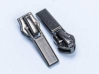 Бегунок №7 на спиральную молнию, арт. XB-298, цв. тём.никель