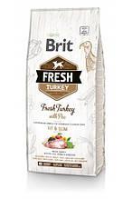 Brit Fresh Turkey with Pea Adult Fit & Slim корм для взрослых собак всех пород (индейка) 12кг