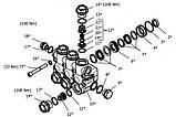 Комплект клапанного блока помпы Hawk серия NMT, фото 2