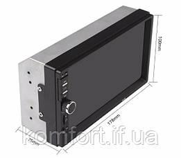 Автомагнитола 7018 сенсорный экран + gps 2Din, фото 3